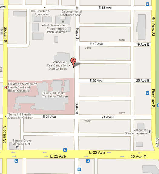 Google Map to 3575 Kaslo Street, Vancouver